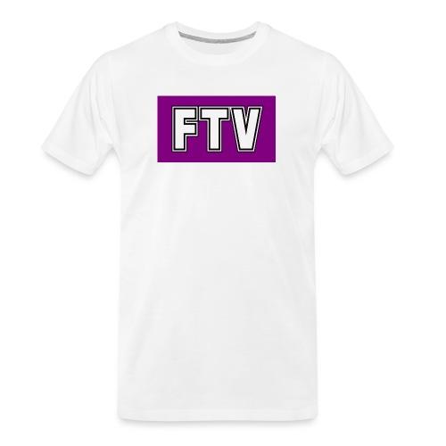 Purple FTV Logo Design - Men's Premium Organic T-Shirt