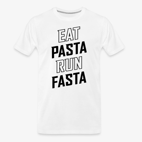 Eat Pasta Run Fasta v2 - Men's Premium Organic T-Shirt
