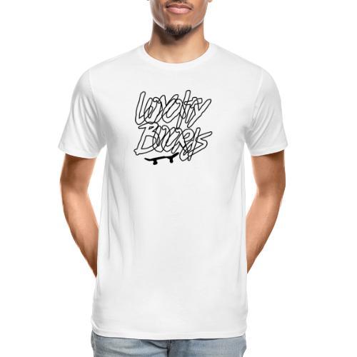 Loyalty Boards Black Font With Board - Men's Premium Organic T-Shirt