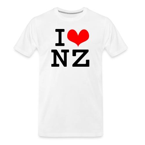 I Love NZ - Men's Premium Organic T-Shirt