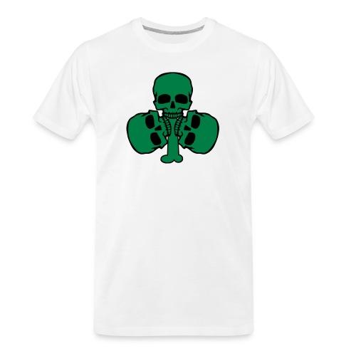 Skull Shamrock w/ Teeth - Men's Premium Organic T-Shirt
