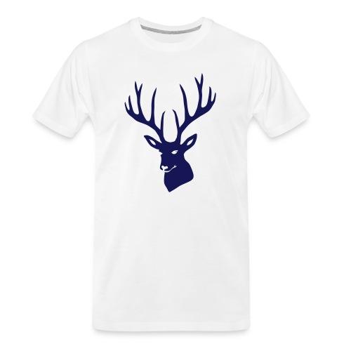 stag night deer buck antler hart cervine elk - Men's Premium Organic T-Shirt