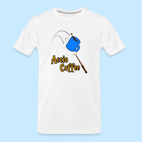 Accio Coffee MUG both v1 png - Men's Premium Organic T-Shirt
