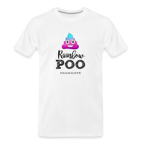 Rainbow Poo - Men's Premium Organic T-Shirt