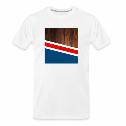 Wooden stripes - Men's Premium Organic T-Shirt