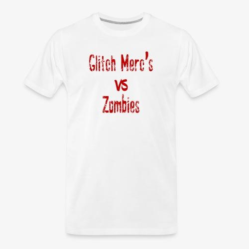 glitch zombie red - Men's Premium Organic T-Shirt