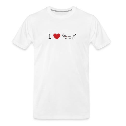 I love Dachshund - Men's Premium Organic T-Shirt