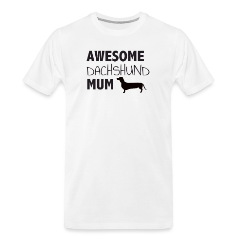 Awesome Dachshund Mum - Men's Premium Organic T-Shirt