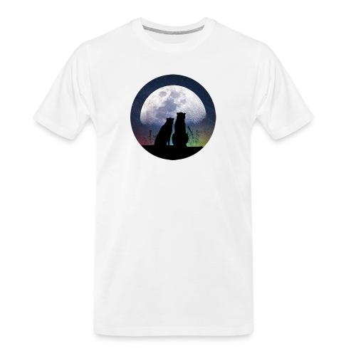 wolves looking at the moon - Men's Premium Organic T-Shirt