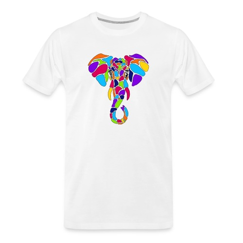 Art Deco elephant - Men's Premium Organic T-Shirt