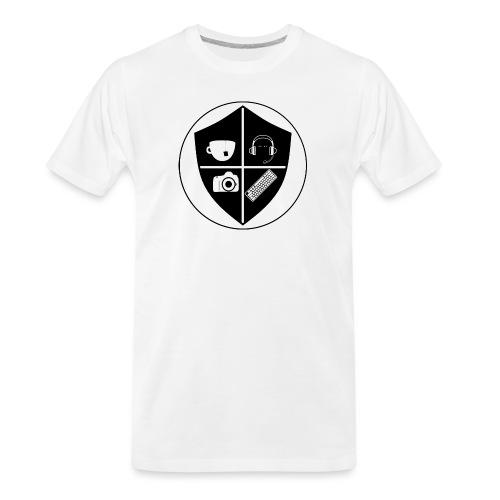 Punk Who Drinks Tea Crest - Men's Premium Organic T-Shirt