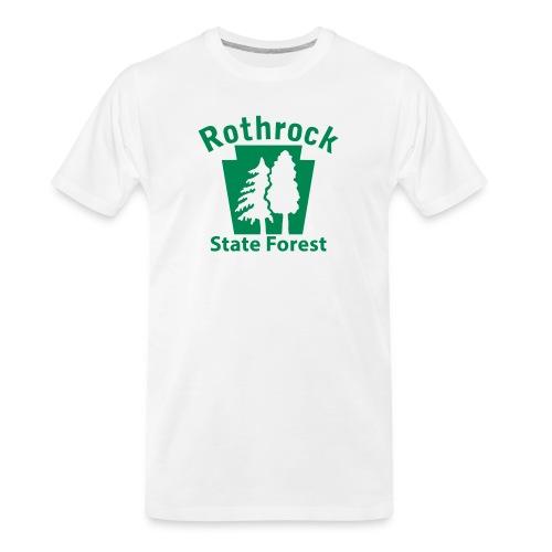 Rothrock State Forest Keystone (w/trees) - Men's Premium Organic T-Shirt