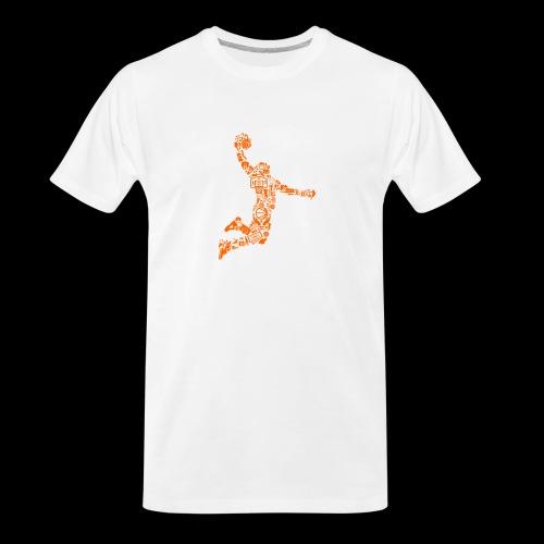 Basketball Slam Dunk - Men's Premium Organic T-Shirt