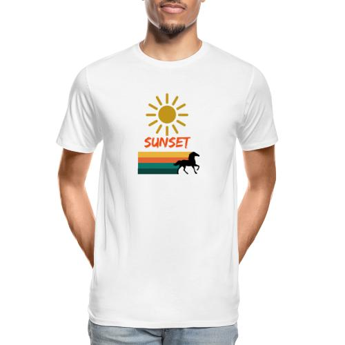 Sunset on vacation - Men's Premium Organic T-Shirt