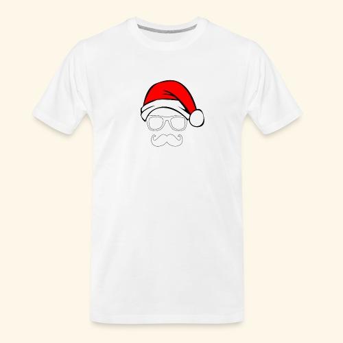 Santa with Geek and Mustache - Men's Premium Organic T-Shirt