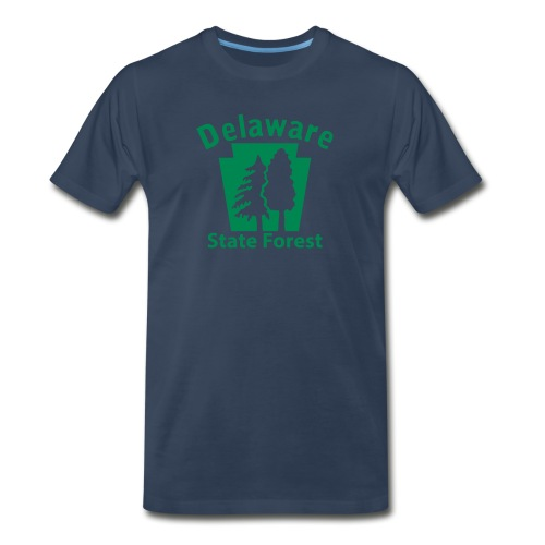 Delaware State Forest Keystone (w/trees) - Men's Premium Organic T-Shirt