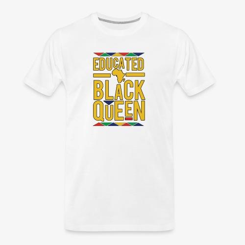 Dashiki Educated BLACK Queen - Men's Premium Organic T-Shirt