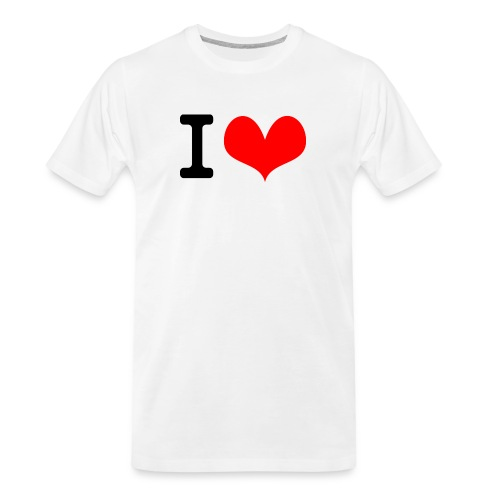 I Love what - Men's Premium Organic T-Shirt