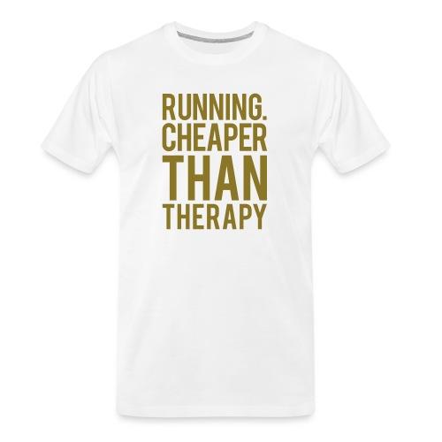 Running cheaper than therapy - Men's Premium Organic T-Shirt
