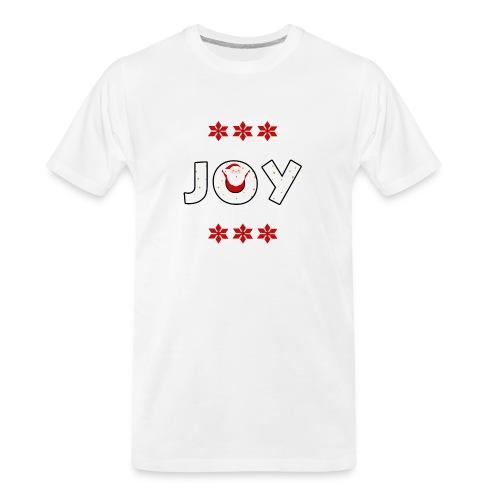 Christmas JOY Santa Clause Ugly Style - Men's Premium Organic T-Shirt