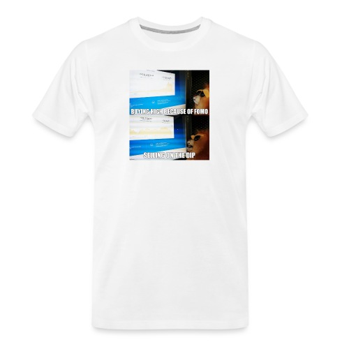 Crypto Lion Buying High and Selling Low - Men's Premium Organic T-Shirt