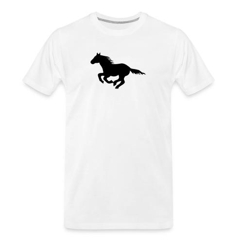 pony horse unbridled wild mustang unbridled rider - Men's Premium Organic T-Shirt