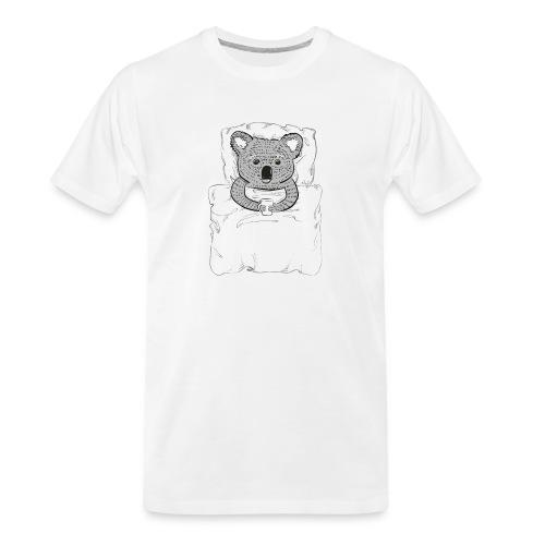 Print With Koala Lying In A Bed - Men's Premium Organic T-Shirt