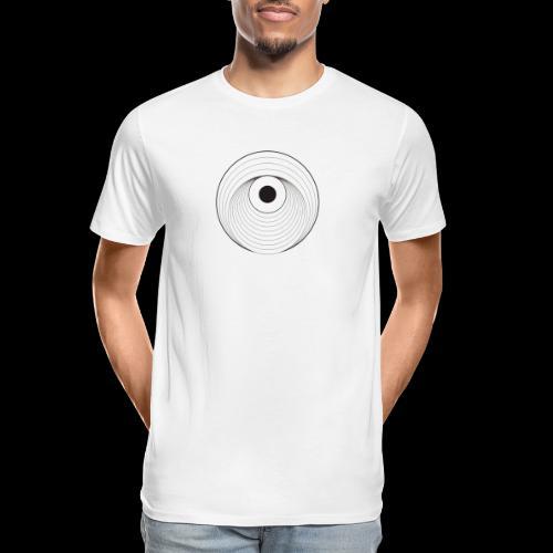 Black Dirt Vortex Logo Light - Men's Premium Organic T-Shirt
