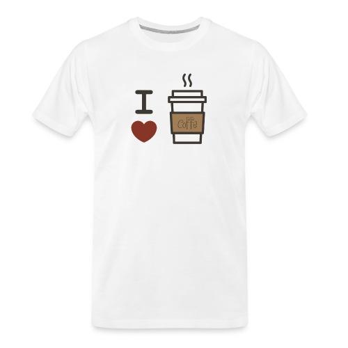 I Love Coffee - Men's Premium Organic T-Shirt