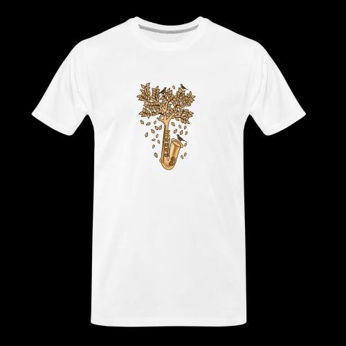 Saxophone Tree of Song Birds - Men's Premium Organic T-Shirt