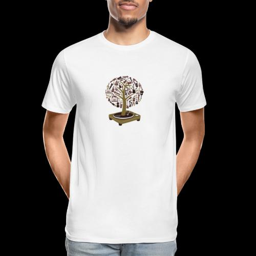 Turntable Tree of Music - Men's Premium Organic T-Shirt