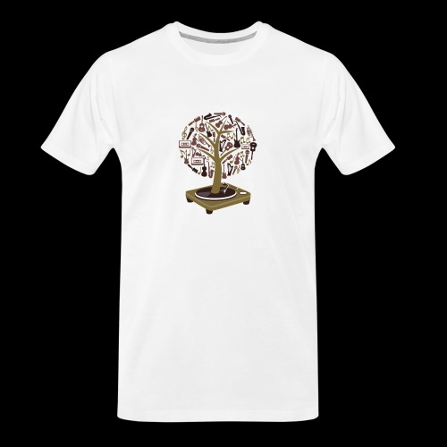 Turntable Tree of Music - Men's Premium Organic T-Shirt