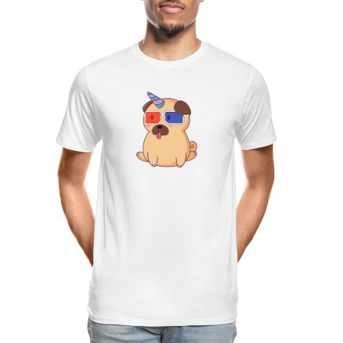 Dog with 3D glasses doing Vision Therapy! - Men's Premium Organic T-Shirt