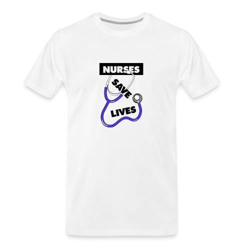 Nurses save lives purple - Men's Premium Organic T-Shirt
