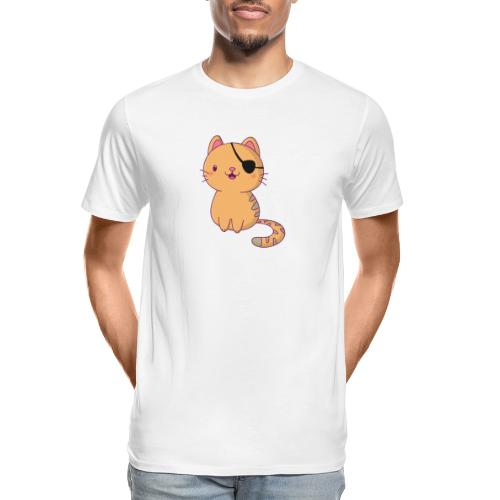 Cat with 3D glasses doing Vision Therapy! - Men's Premium Organic T-Shirt