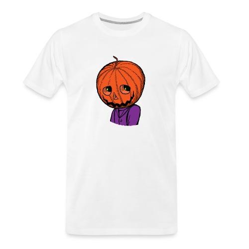 Pumpkin Head Halloween - Men's Premium Organic T-Shirt