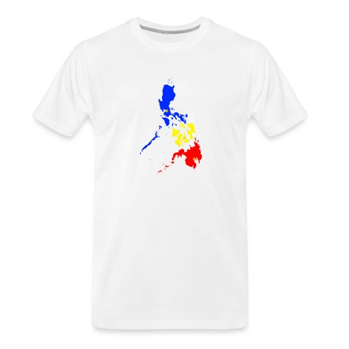 Philippines map art - Men's Premium Organic T-Shirt