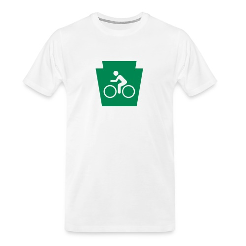 PA Keystone w/Bike (bicycle) - Men's Premium Organic T-Shirt