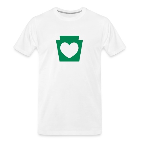 Love/Heart PA Keystone - Men's Premium Organic T-Shirt