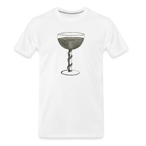 Wine glass - Men's Premium Organic T-Shirt