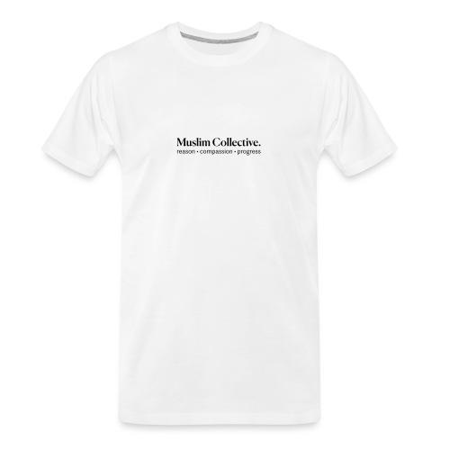 Muslim Collective Logo + tagline - Men's Premium Organic T-Shirt