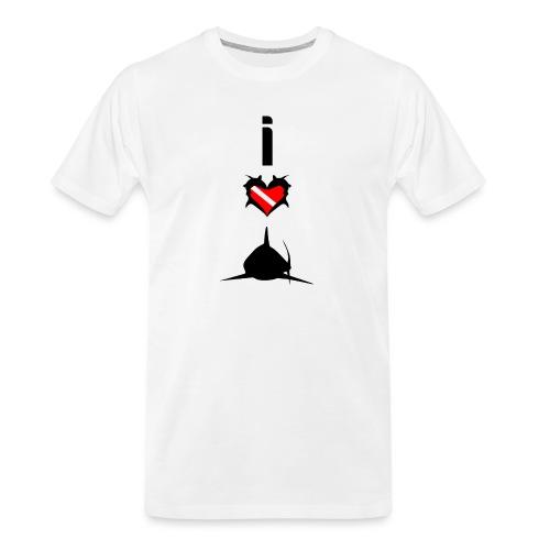 I Love Sharks - Men's Premium Organic T-Shirt
