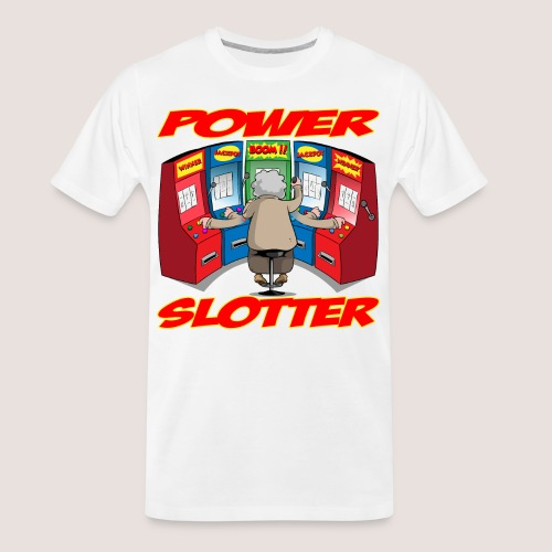 THE POWER SLOTTER WITH TEXT - Men's Premium Organic T-Shirt