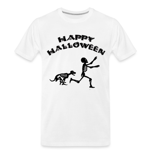 Halloween Boy and Dog - Men's Premium Organic T-Shirt