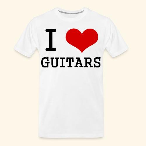 I love guitars - Men's Premium Organic T-Shirt
