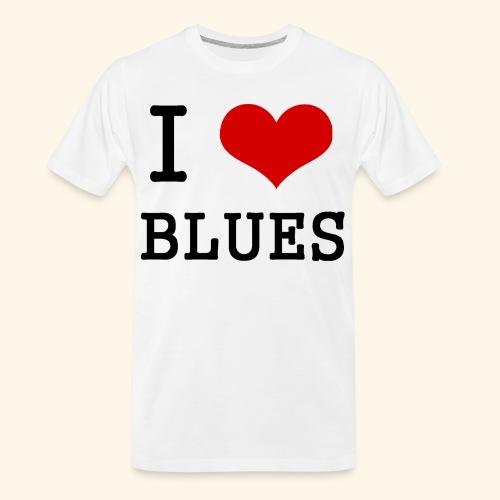 I Heart Blues - Men's Premium Organic T-Shirt