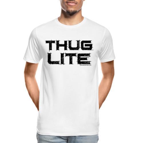 Thug Lite BLK.png - Men's Premium Organic T-Shirt