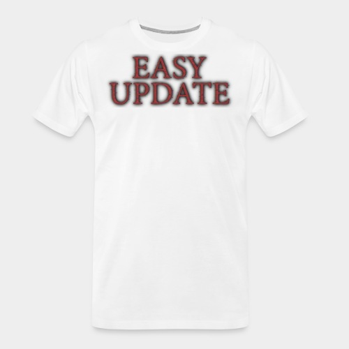 Easy Update Logo Red - Men's Premium Organic T-Shirt