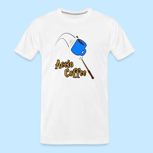 Accio Coffee! (Double Sided) - Men's Premium Organic T-Shirt