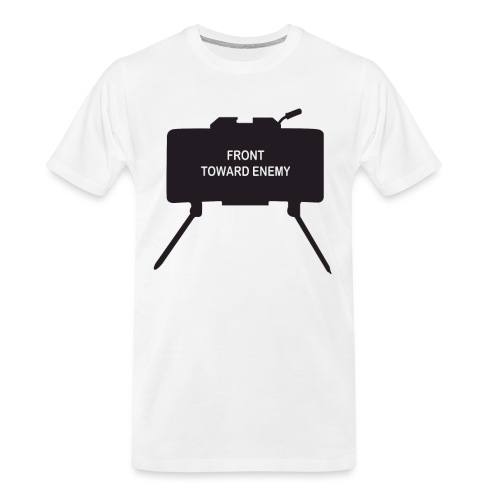 Claymore Mine (Minimalist/Dark) - Men's Premium Organic T-Shirt
